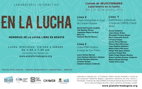 laboratorio interactivo.   EN LA LUCHA -  Plataforma Bogotá
