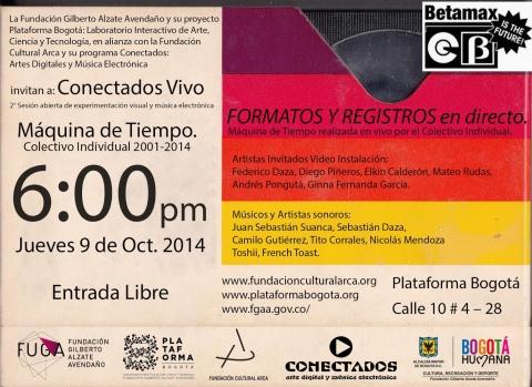 Muestra en Plataforma Bogotá - La FUGA