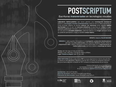 POST- SCRIPTUM Convocatoria Plataforma Bogotá